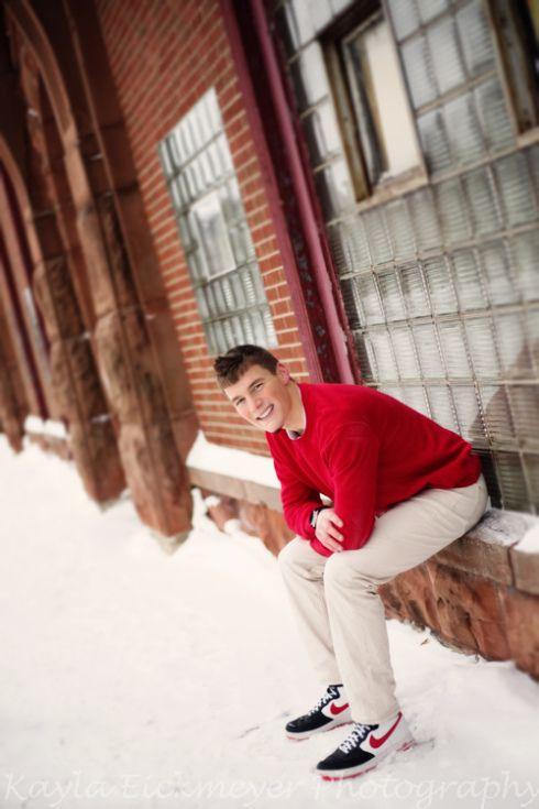 Winter Senior Guy Session :: Kayla Eickmeyer Photography :: Menominee Mi Senior Photographer