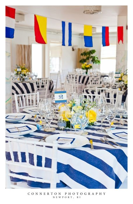 Nautical Rehearsal Dinner at 41 North | Nautical table ...