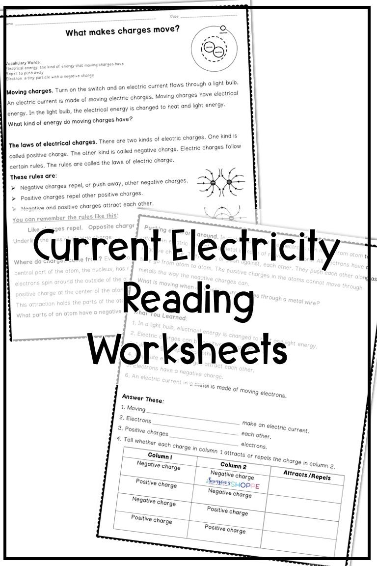 Electricity Reading Activity In 2020 Teaching Middle School Lesson Plans Physical Science Lessons