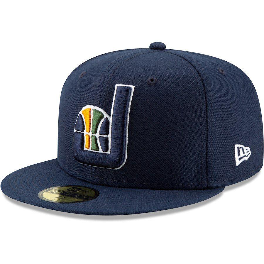 Men S Utah Jazz New Era Navy Team Logo Back Half Series 59fifty Fitted Hat Your Price 35 99 Fitted Hats Utah Jazz New Era
