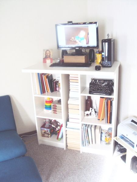 Billy Bookcase Desk: Ikea Hack: Standing Desk. Two Billy Bookcases, One Vika