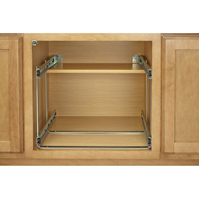 2 Tier Pull Out Kitchenware Divider Rev A Shelf Pull Out Kitchen Shelves Kitchen Cabinet Shelves