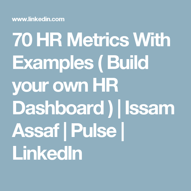 Hr Metrics With Examples  Build Your Own Hr Dashboard