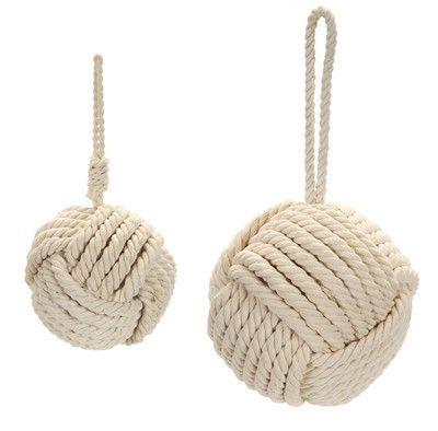 Rope Ball Ornament Jute