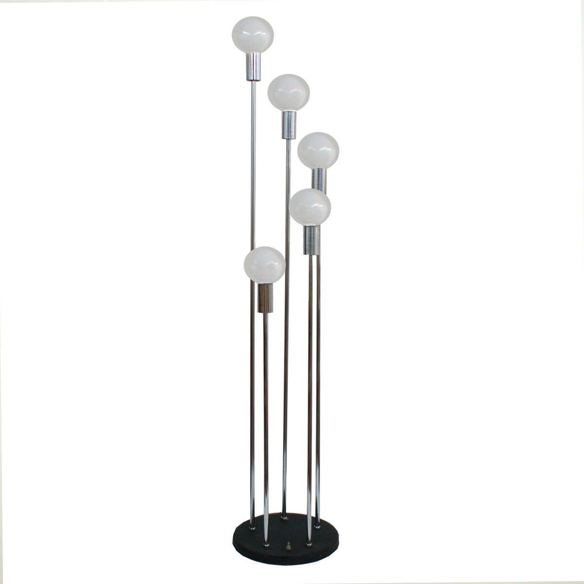 70s 5 Arm Chrome Floor Lamp Chrome Floor Lamps Floor Lamp Lamp