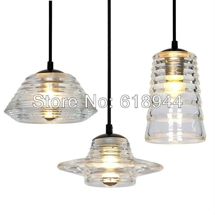 Italian style art deco clear glass designer lighting led hanging lights for home restaurant bar ac110
