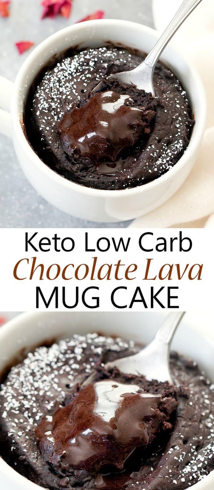 Keto Chocolate Lava Mug Cake