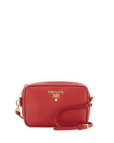 5557b45b63 Prada Small Saffiano Camera Crossbody Bag