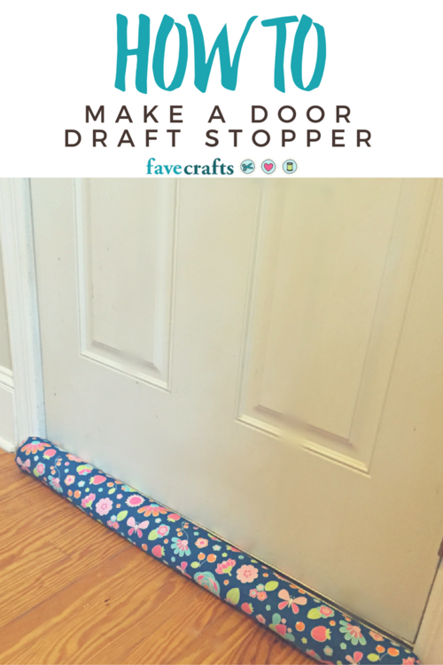 How to Make a Door Draft Stopper | Sewing Patterns | Pinterest ...