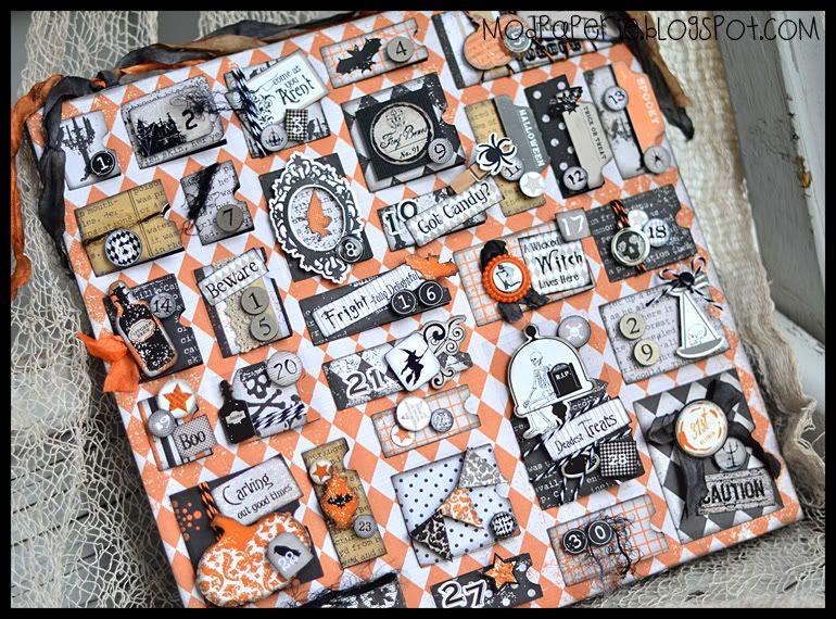 Halloween make your own advent calendar mod paperie Pinterest
