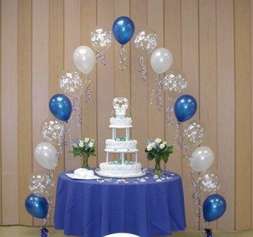 Arc balloon for calm wedding cake table decoration wedding cake our collection of blue wedding theme wedding favors wedding pew bows and wedding decorations will create the wedding youve always dreamed junglespirit Choice Image