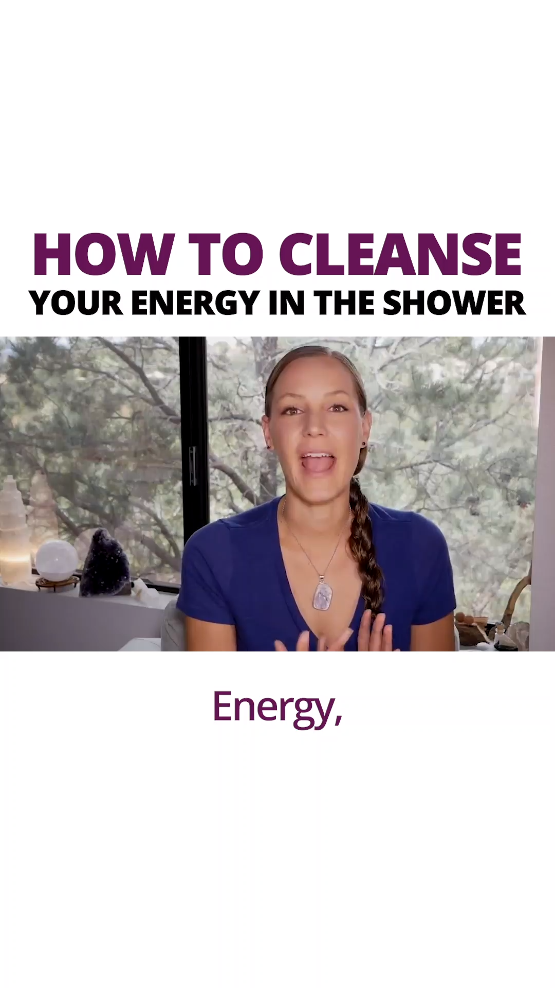 How To Cleanse Negative Energy In The Shower!