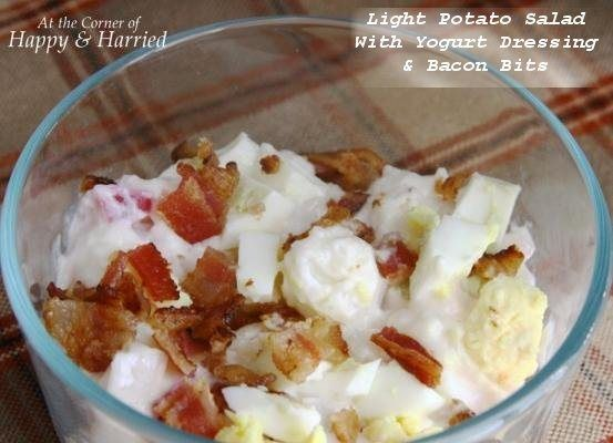 Let's Dish Recipes: RED SKINNED POTATO SALAD WITH BACON