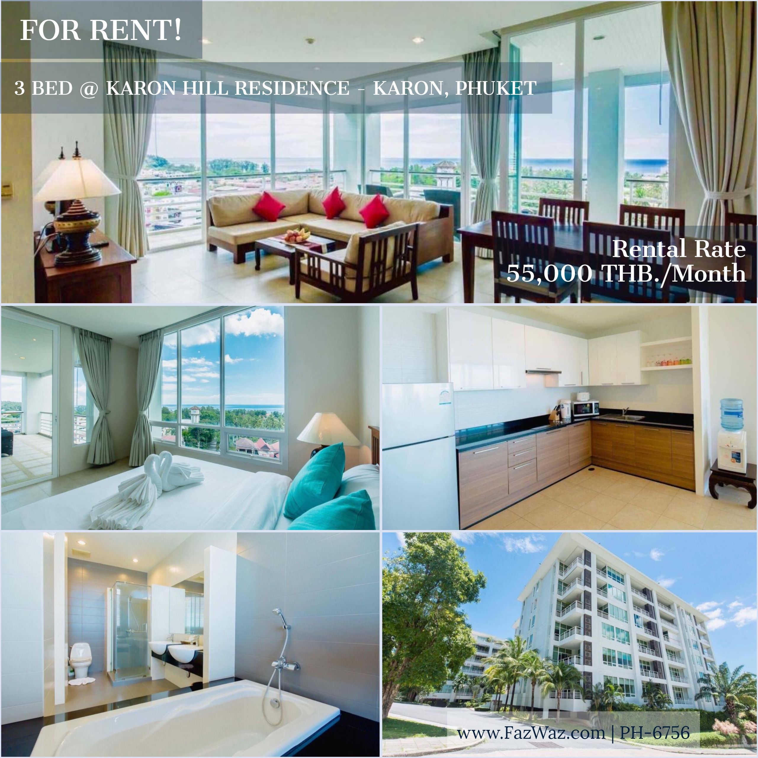 3 Bedroom Fully Furnished Apartment For Rent In Karon
