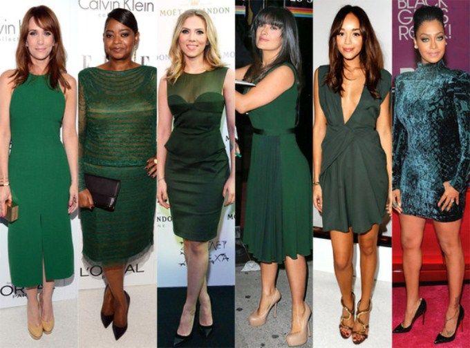 С чем одевать платье изумрудного цвета