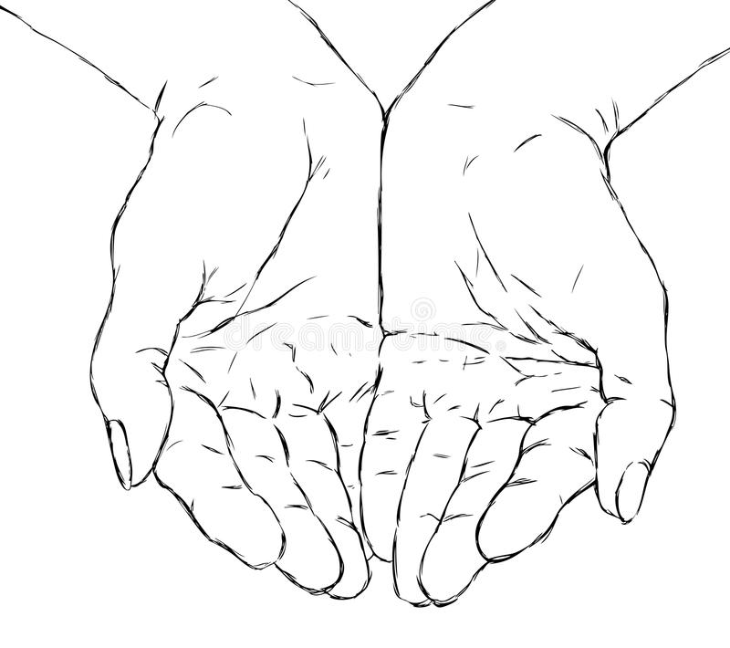 Cupped Stock Illustrations 1 133 Cupped Stock Illustrations Vectors Clipart Dreamstime How To Draw Hands Praying Hands Drawing Hand Drawing Reference