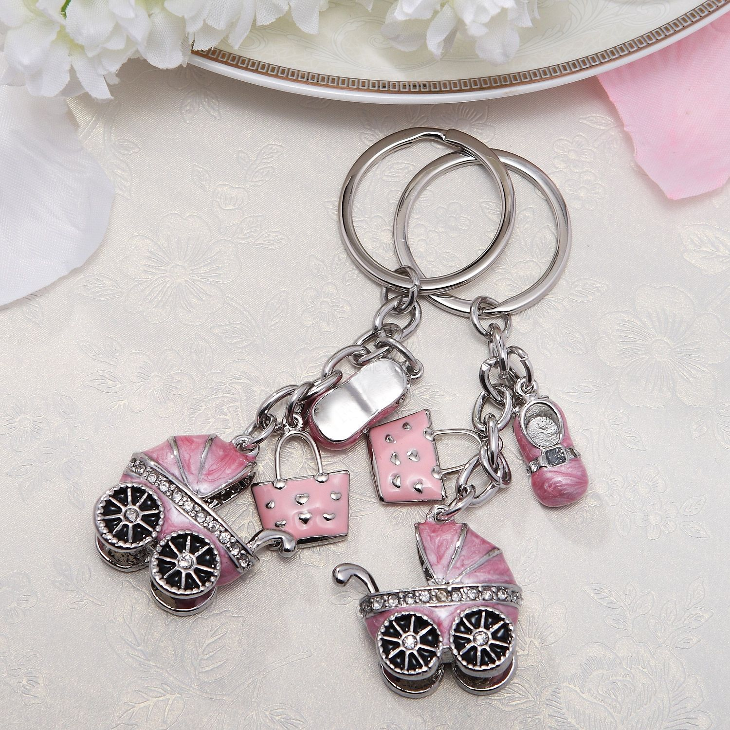 baby carriage key ring | Wedding Favors | Pinterest | Baby carriage ...