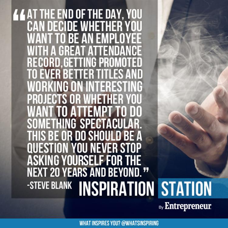 To entrepreneur or not to to entrepreneur