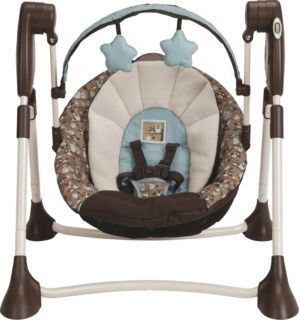 Graco Little Hoot Swing By Me Portable 2in1 Swing Baby Swings Car Seats New Baby Products