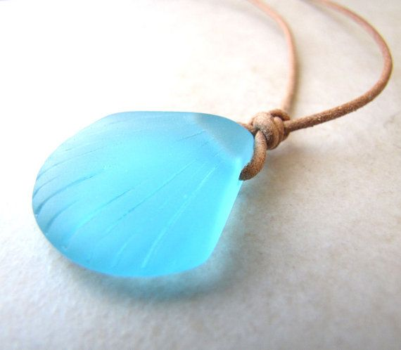 Seaglass Necklace, Sea Glass Necklace, Seashell Necklace, Sea Shell