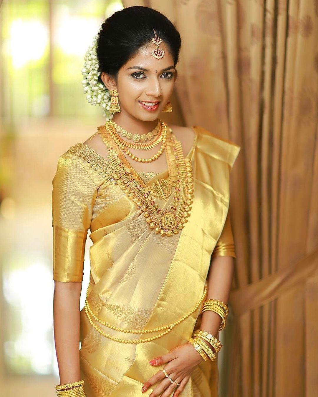 Kerala Bride Hindhu: Kerala Saree Blouse, Kerala Bride