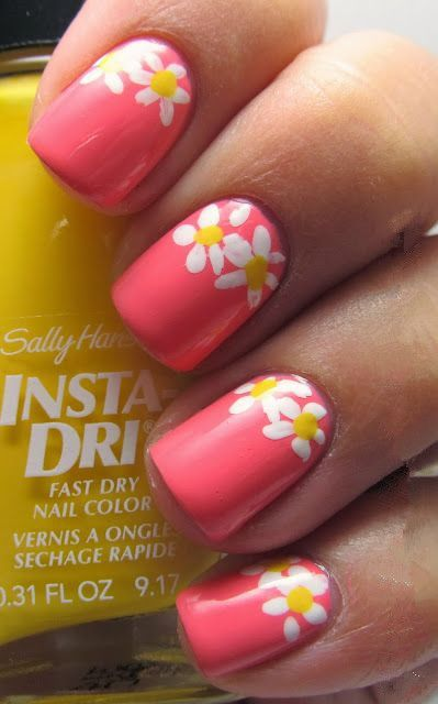 Nail artnail painted nail designs pinterest art nails handtastic intentions nail art daisies i like the flowers for spring toes only prinsesfo Image collections