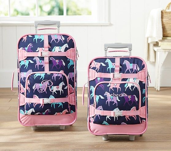 Mackenzie Navy Horse Luggage | Pottery Barn Kids | horse décor ...