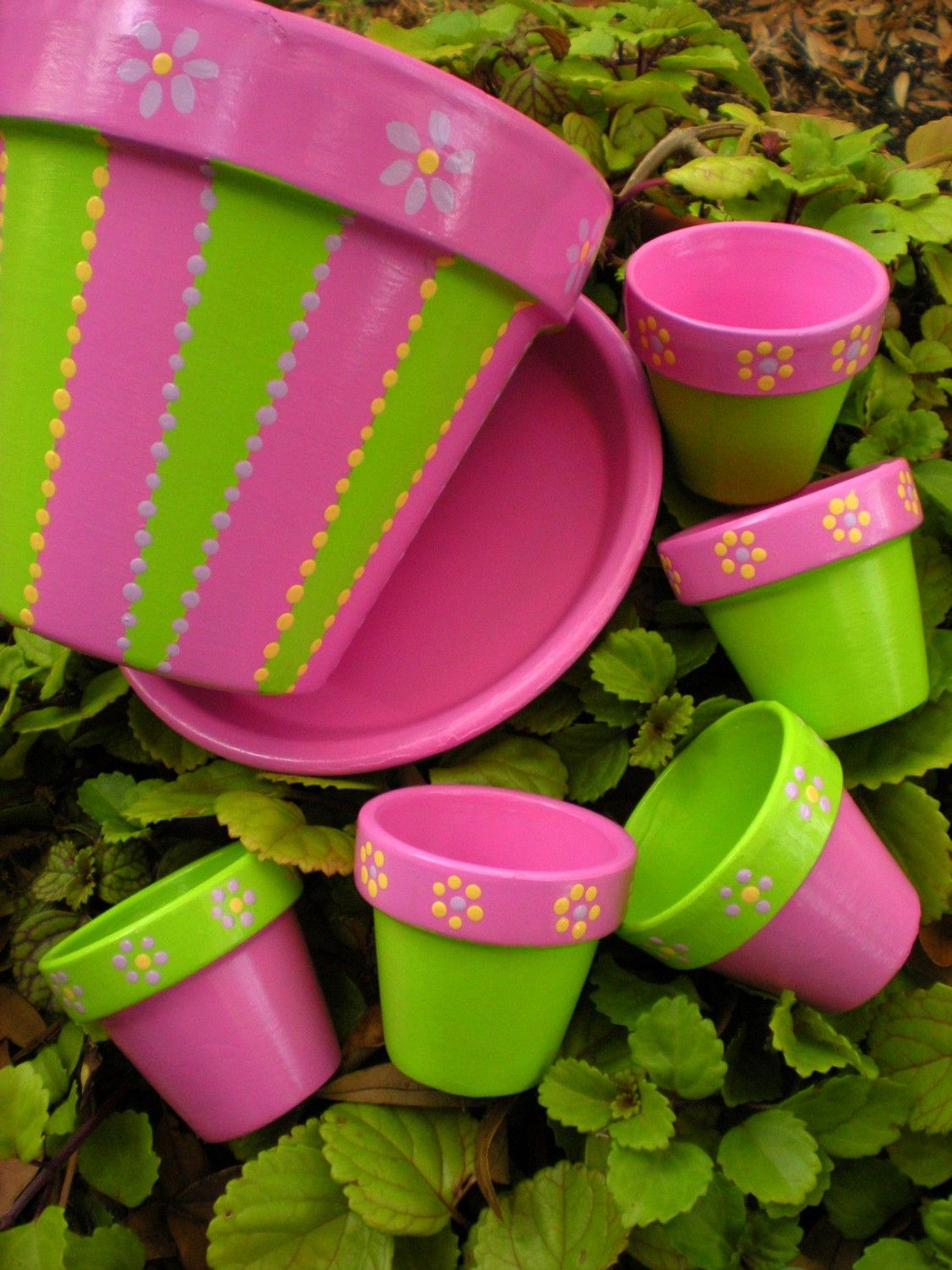 Wedding Favors - Hand Painted Flower Pots with Paisley Design ...