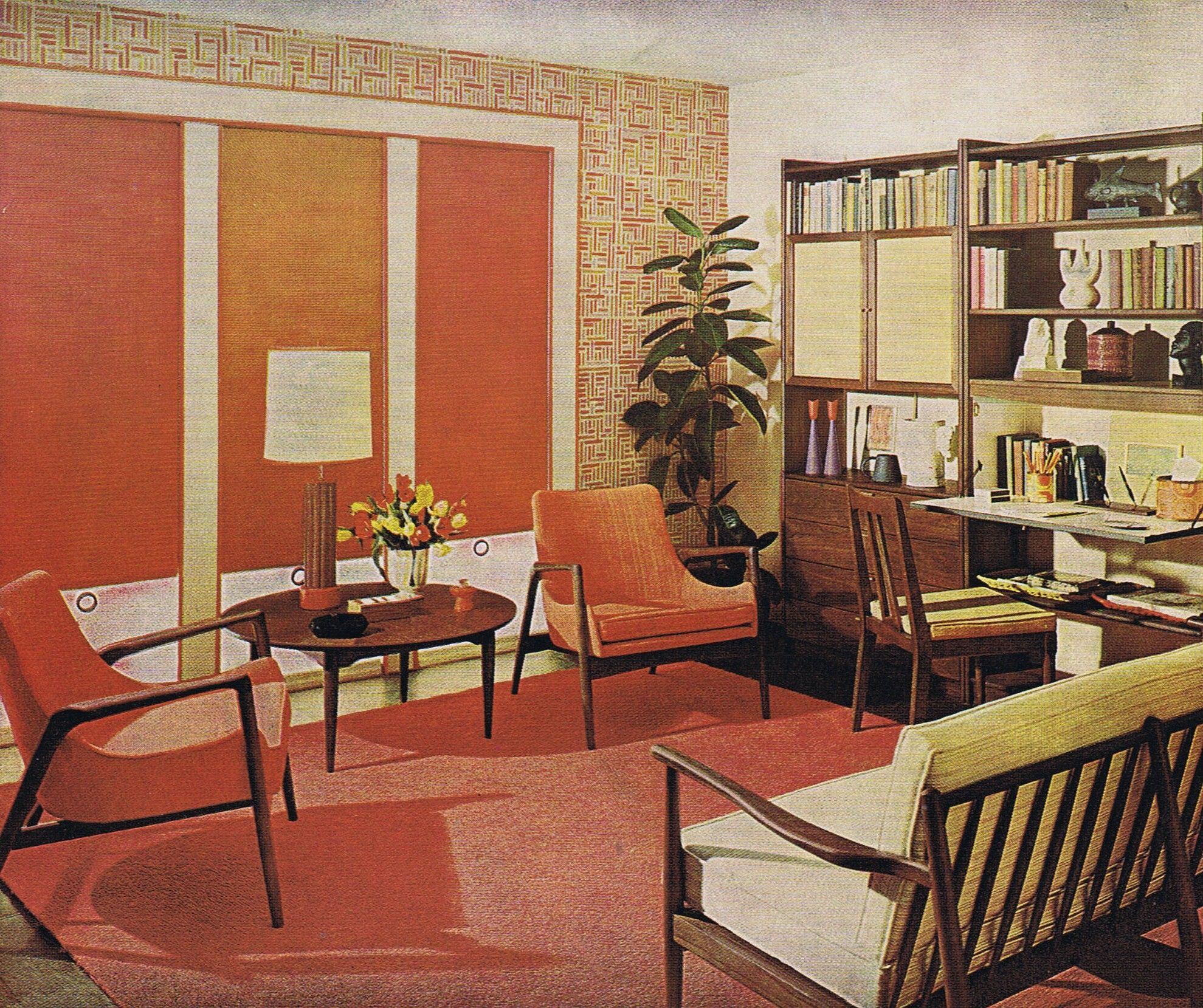Better Homes And Gardens 1962 Mid Century Modern Interior Design Pinterest Historia