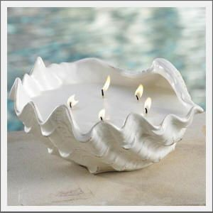 Seashell Candle. Beauty comes from simplicity!