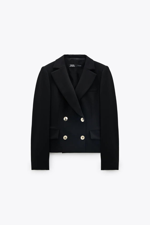 Veste Courte à Boutons Zara France Blazer Cropped Blazer Blazer And Shorts