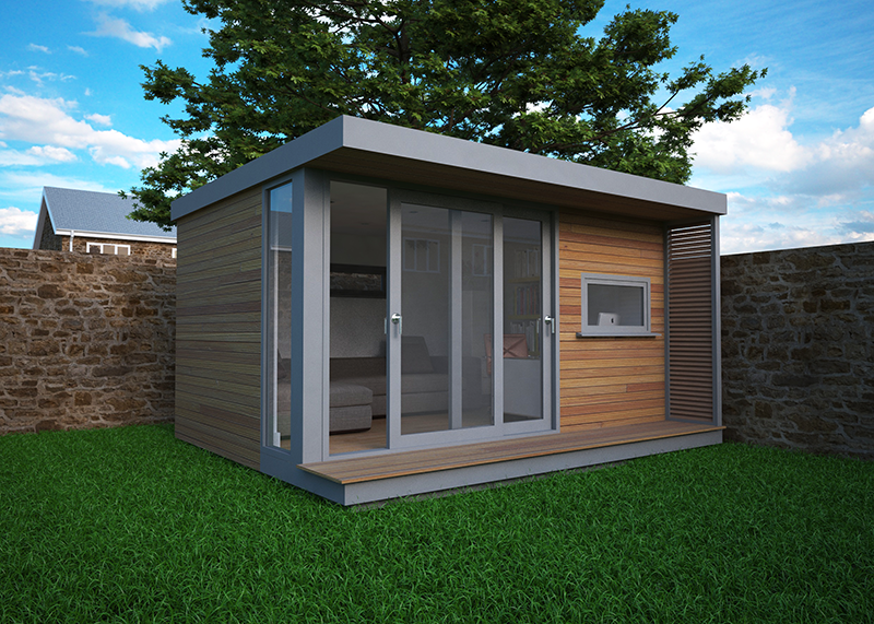 Flat roof garden offices come in all sizes they are for Backyard office kit