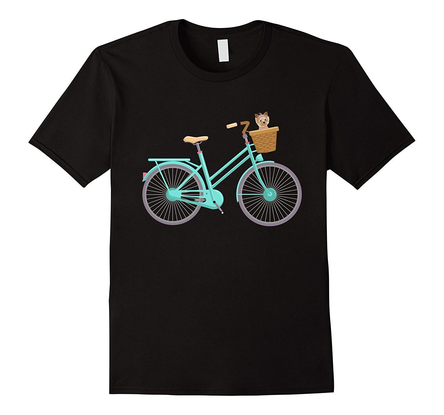 Antique Bike With Adorable Puppy In Basket T-Shirt
