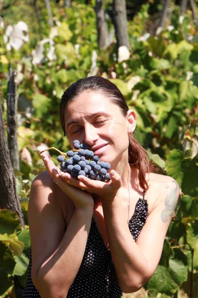 Young Woman with Grapes Public Domain Photos, Free