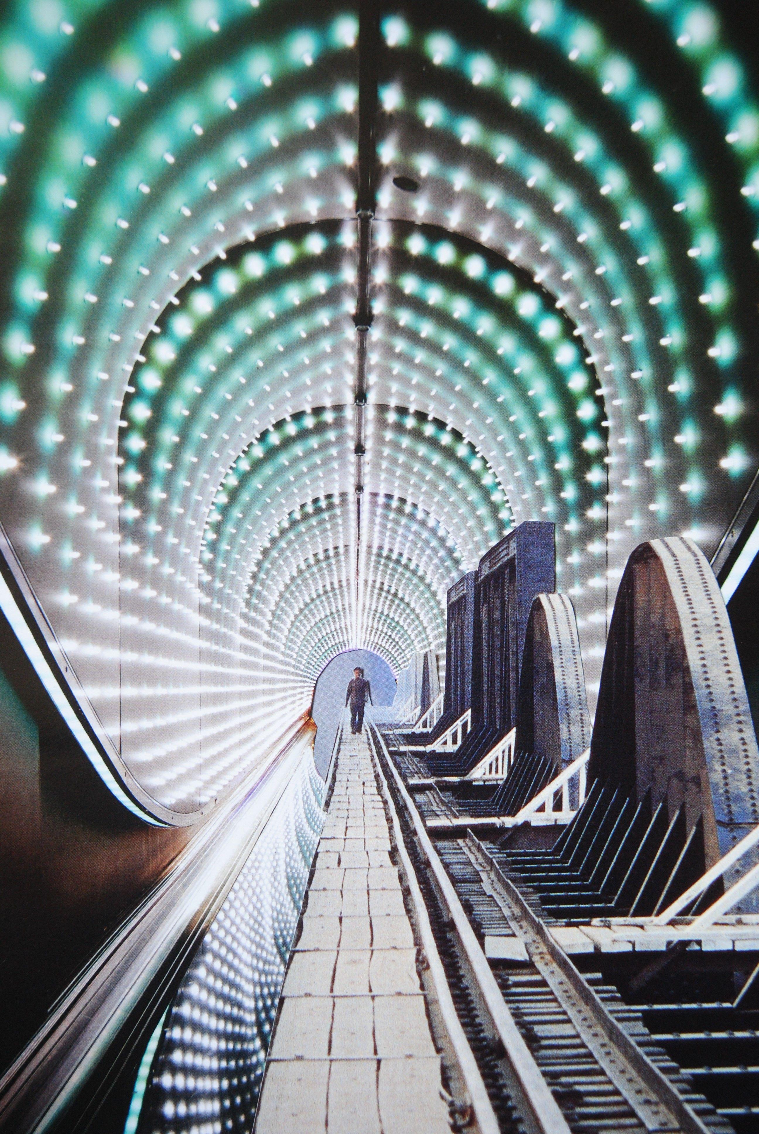 Tunnel, John Turck Collage | John Turck Collage Art | Collage art
