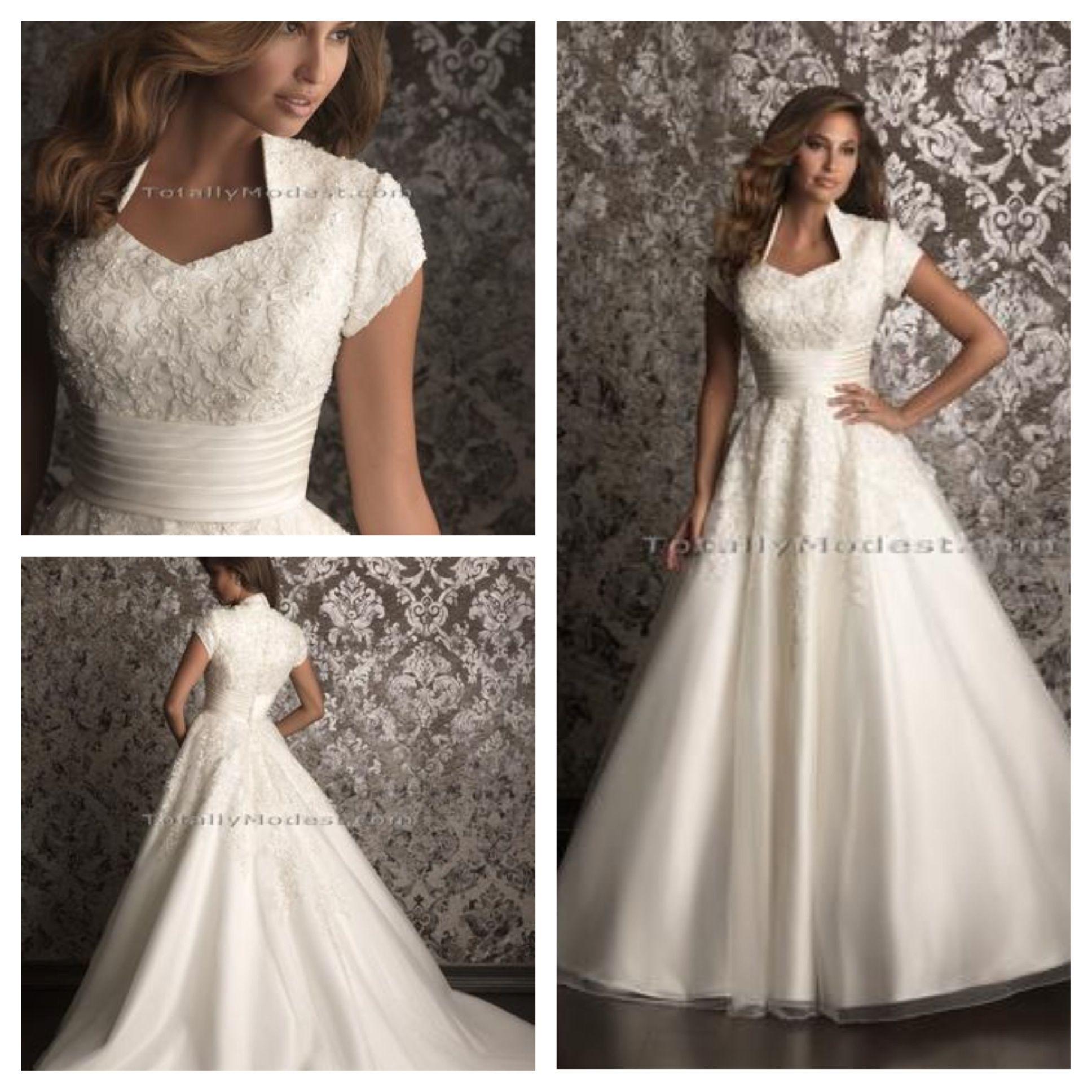 Modest Wedding Gowns: Gorgeous Modest Wedding Dress...