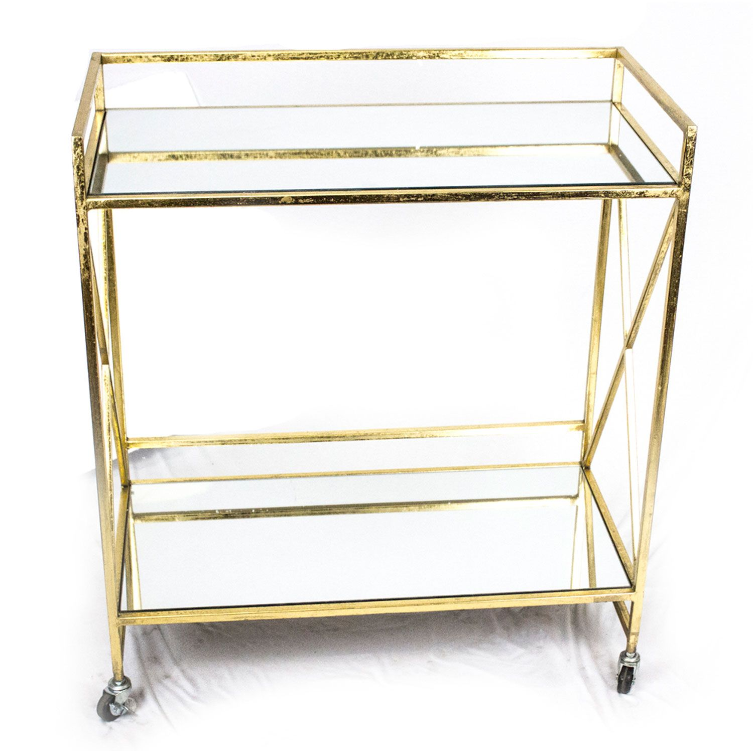Metal And Mirror Gold Bar Cart Sagebrook Home Carts Bars Sets Room