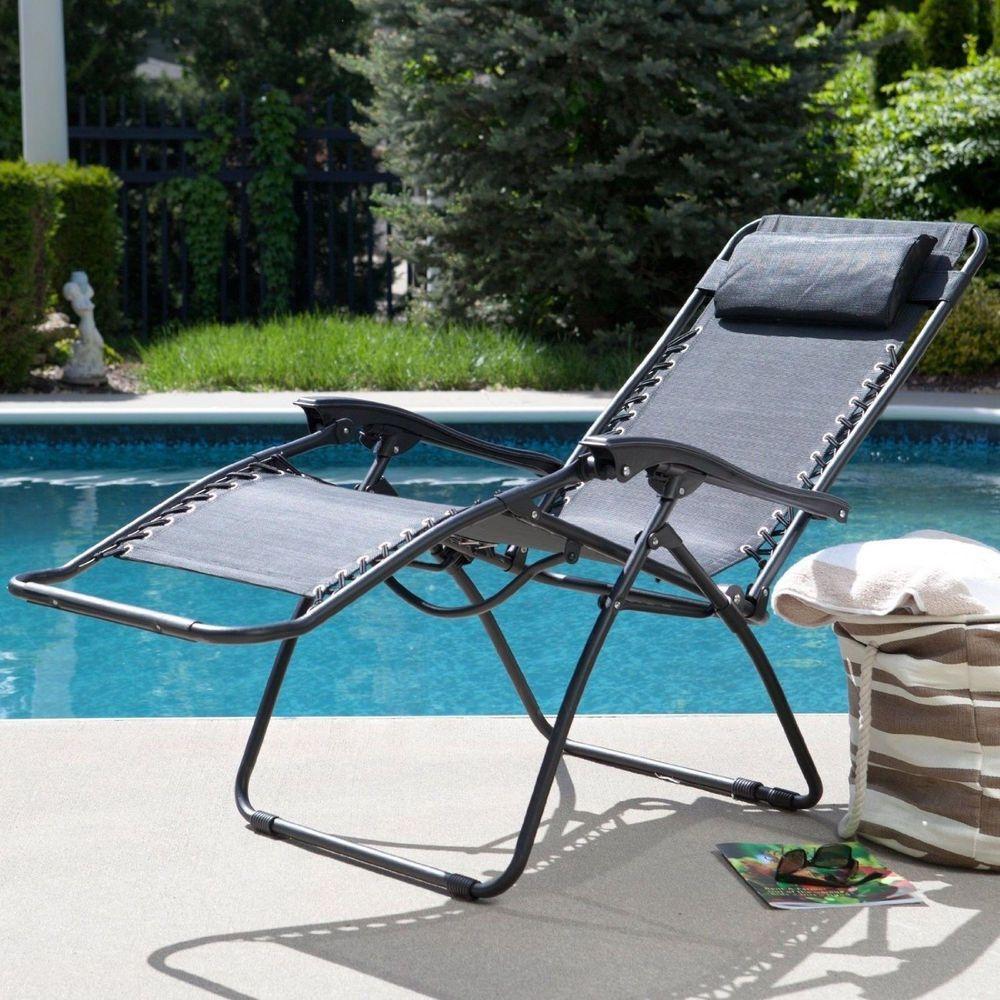 Caravan Canopy Zero Gravity Folding Chair with Headrest