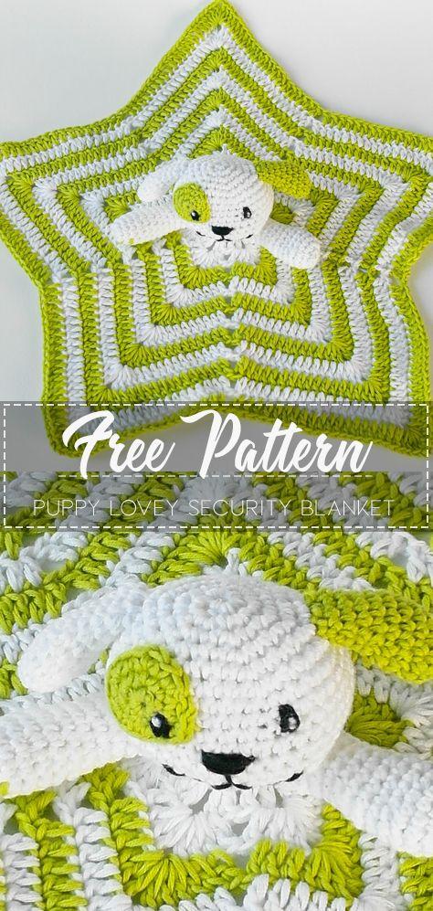 Puppy Lovey Security Blanket – Pattern Free  #crochetsecurityblanket