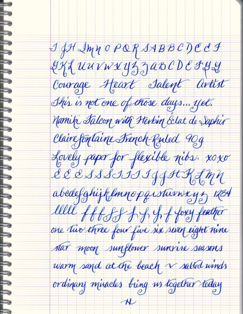 Clairefontaine Makes Smooth Work of Flex Nibs Tipos de letra - four ruled paper