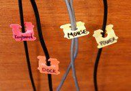 Use bread tags for labeling your wires/cords..