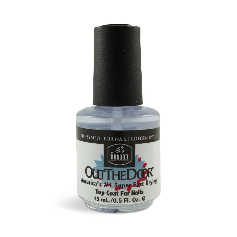 Inm Out The Door, Fast Drying Top Coat: The BEST topcoat I've ever found! Dries super-quickly, leaves nail polish nice and smooth!