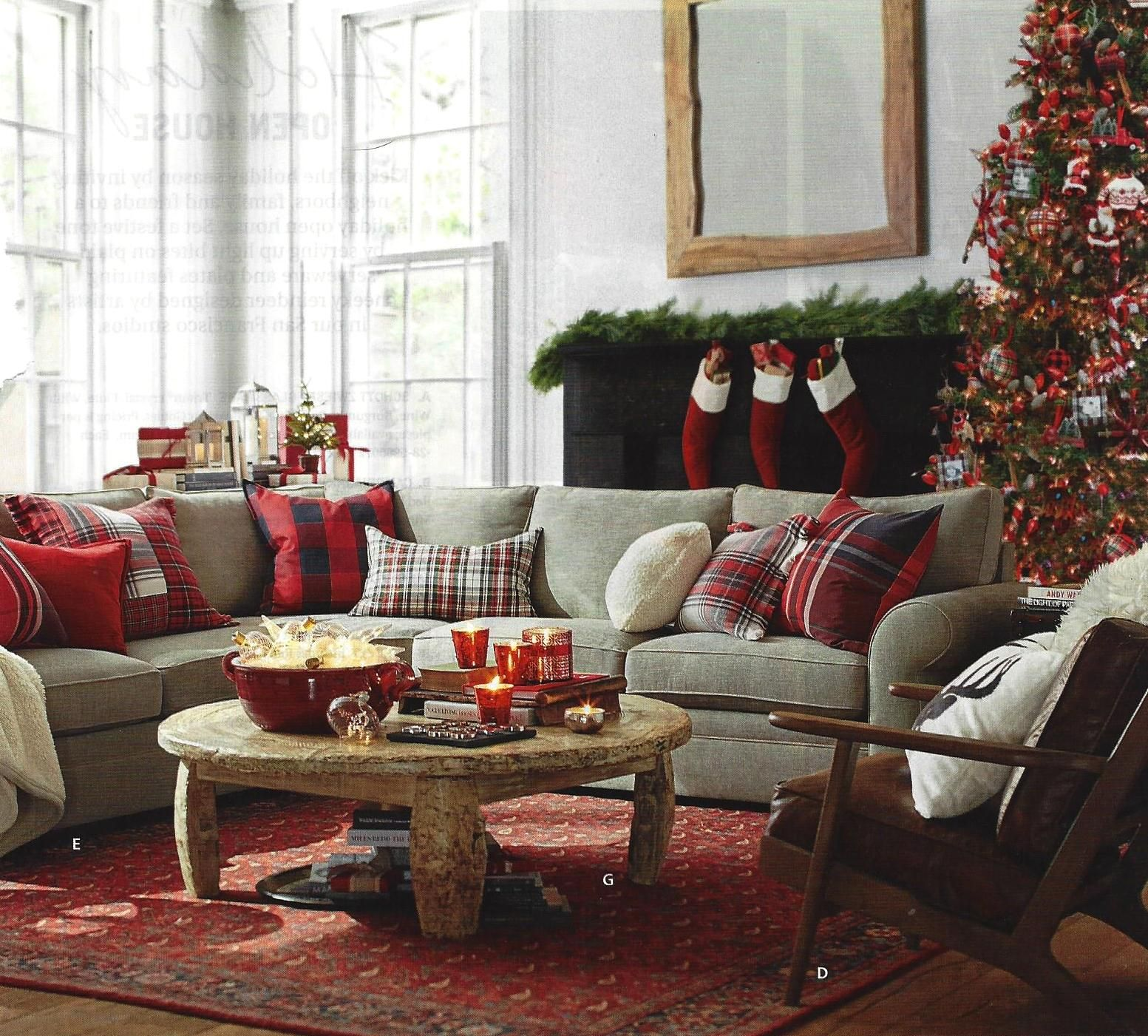 Rom Pottery Barn Catalog Dec 2016 This Is The Way To Mix Plaids These Christmas Pillows