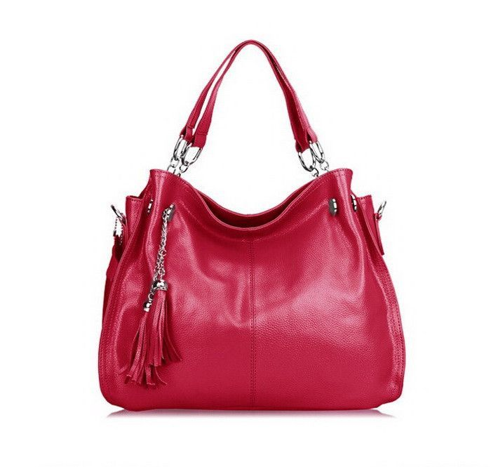 MARRANT Women Bags Genuine Leather Handbags Cowhide Leather Female Casual Shoulder Handbag Fashion Tassel Design Bag for Woman