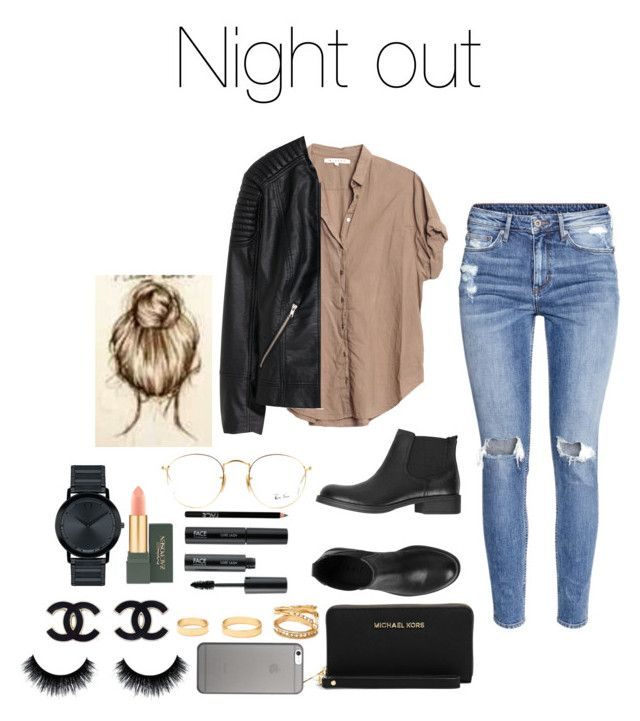 """""""Untitled #409"""" by mh-loves1d ❤ liked on Polyvore featuring H&M, Xirena, ESPRIT, Ray-Ban, FACE Stockholm, Movado, Forever 21, MICHAEL Michael Kors, MAC Cosmetics and Native Union"""