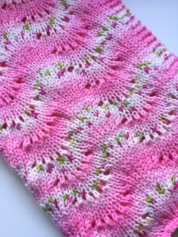 Very Pretty Hand Knitted Chunky Baby Blanket Blanket Babies And Yarns