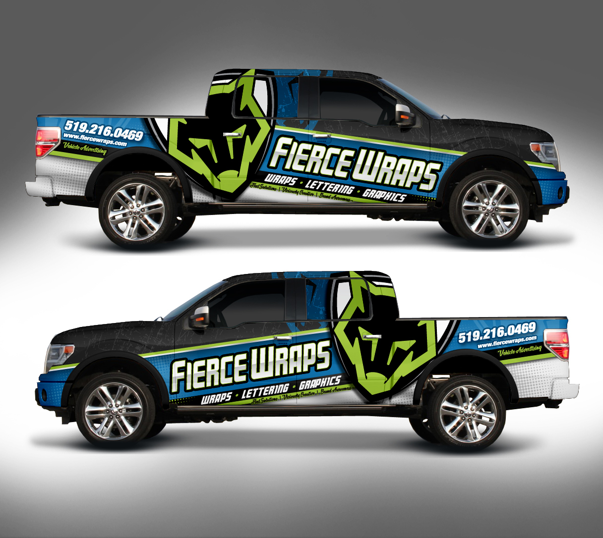Truck Wrap Design For FierceWraps Car Wraps Pinterest Wraps - Modern vehicle decals for business