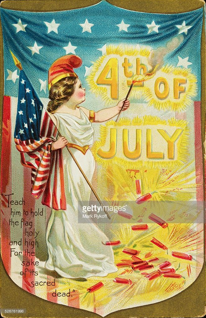 Independence day greeting postcard flags and gilded age american gilded age era c1900 fourth of july postcard captioned teach him to hold the flag holy and high for the sake of its sacred dead m4hsunfo