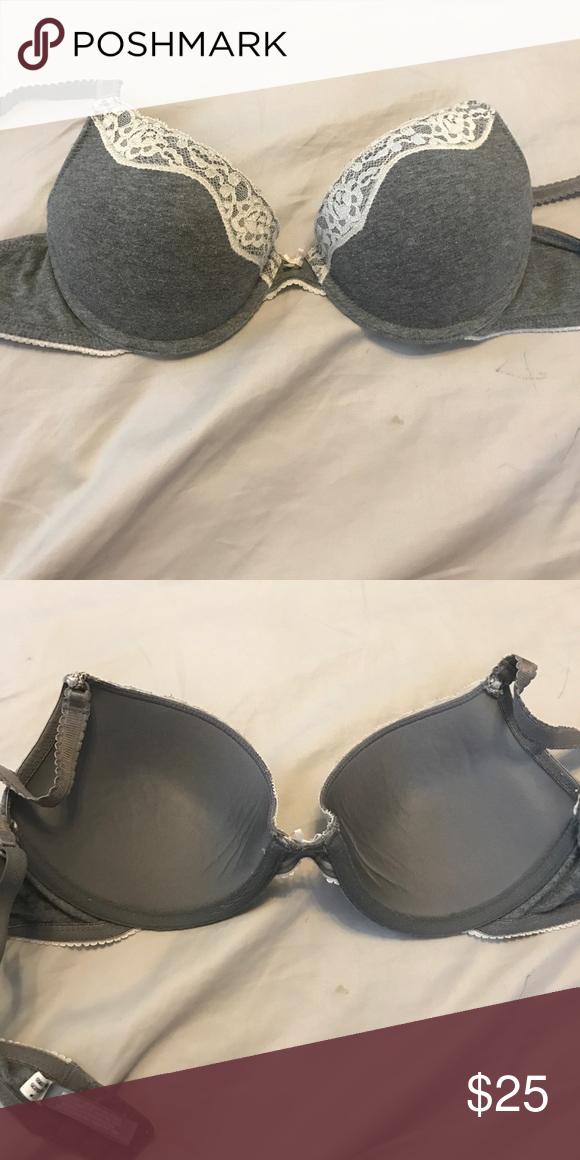 0f18e83406afa Grey lace aerie bra size 32c Comfy bra with no lining size 32c aerie  Intimates   Sleepwear Bras