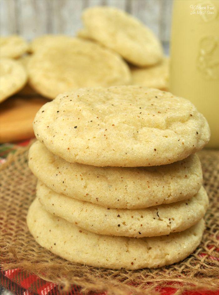 The Best Eggnog Cookies - Soft and Chewy #cinnamonsugarcookies